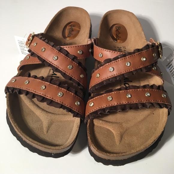 620b654a41b NEW Betula Birkenstock Ruffle Leather Sandals 37